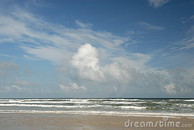 Beach on Padre Island, TX USA
