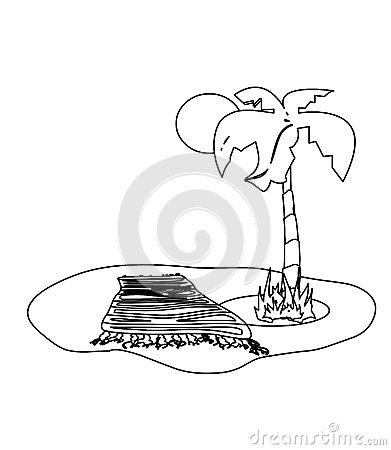 coloring book palm trees stock vector image 67788980