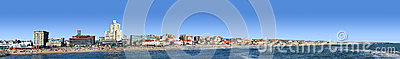 Beach panoramic view Editorial Stock Photo