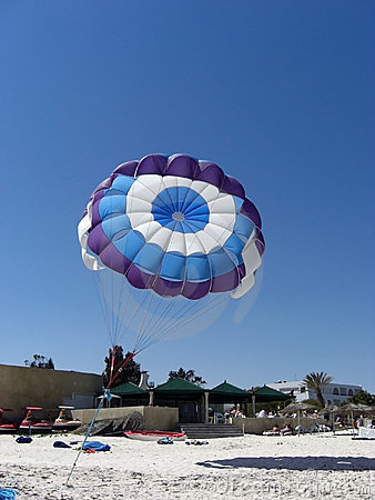 Free Beach Parachute Royalty Free Stock Photography - 4998217