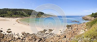 Beach paradise panoramic view