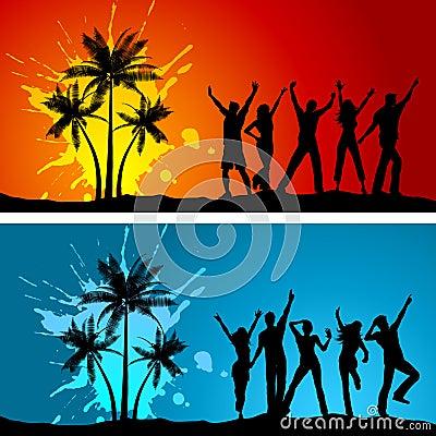 Free Beach Parties Stock Photo - 9852450