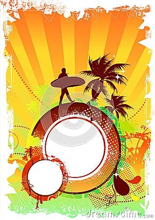 Free Beach Party Design Stock Photo - 2892040