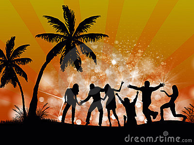 Beach Party People Stock Images - Image: 22215764