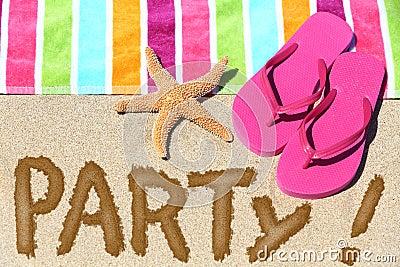 Beach party travel fun concept