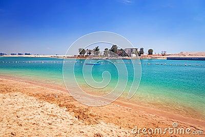 Beach at the Persian Gulf in Abu Dhabi