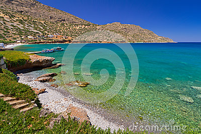 Beach in Plaka town on Crete