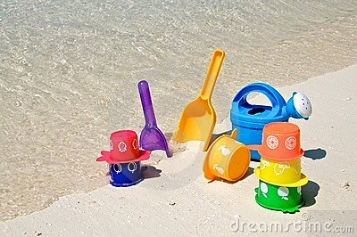 Beach play toys at the beach