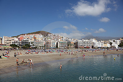Beach Playa de los Cristianos Editorial Photo