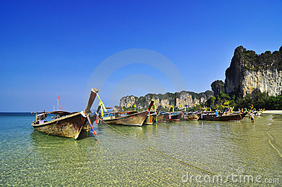 The beach at Railay Island