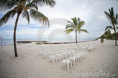 Beach ready for ceremony
