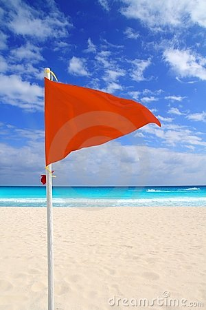Beach red flag bad weather wind advice Caribbean