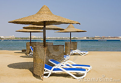 Beach on Red sea, Hurghada, Egypt