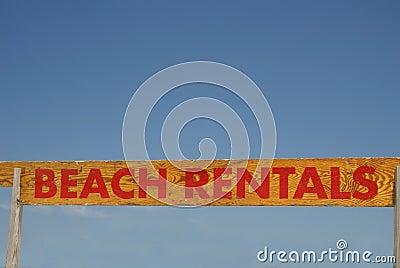 Beach Rentals Sign