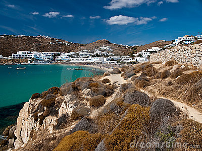 Beach resort in Mykonos