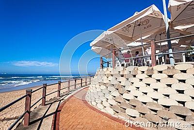 Beach Restuarant Umbrellas  Editorial Stock Photo
