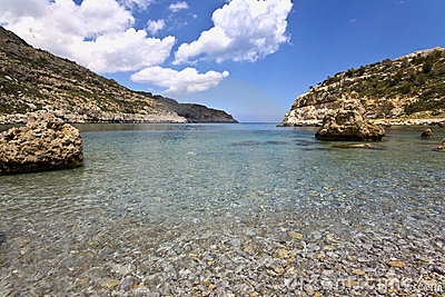 Beach at Rhodes island, Greece