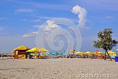 Beach in Romania Editorial Stock Image