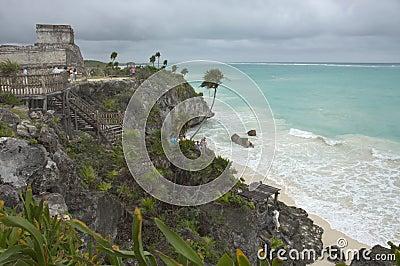 Beach and ruins