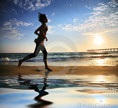 Free Beach Running Stock Images - 7442324