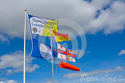 Beach safety flags Editorial Photo