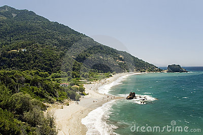 Beach on the Samos island
