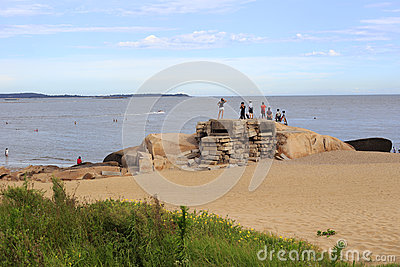 Beach sand bunker Editorial Stock Photo