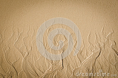 Beach sand resembling flames
