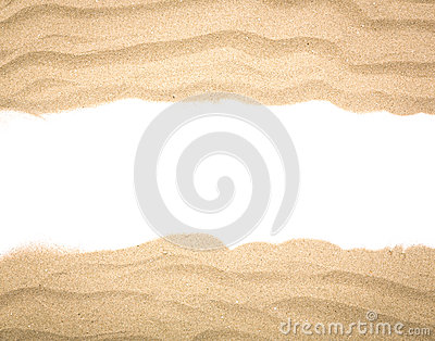 Beach sand scattering isolated Stock Photo