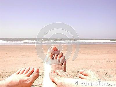Beach sand toes
