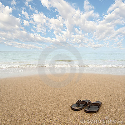 Free Beach Sandals Stock Images - 18711064