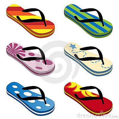 Beach Sandals Vector Royalty Free Stock Photography - Image: 9922617