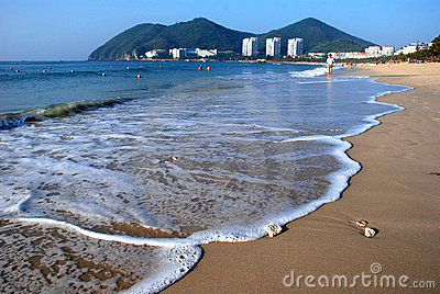 Beach of the Sanya,Hainan Province,China