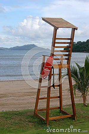 Free Beach Saver Post Royalty Free Stock Photos - 842928
