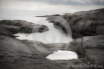Beach scenery with clouds