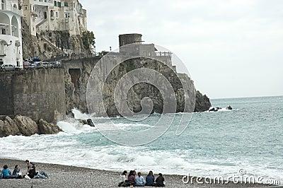 Beach scenes, Amalfi, Italy
