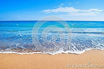 Beach and sea Stock Photo