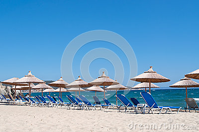 Beach, Sea And Sky Stock Photography - Image: 28974412