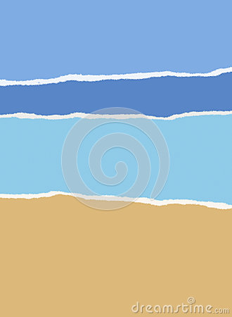 Beach, sea and sky Summer background