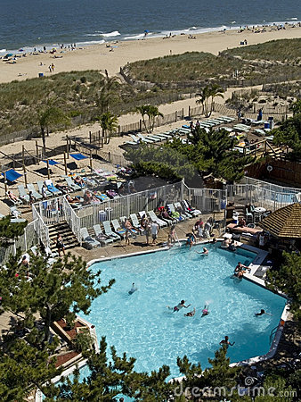 Beach and seaside pool