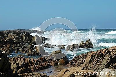 Beach Series: Waves crashing in