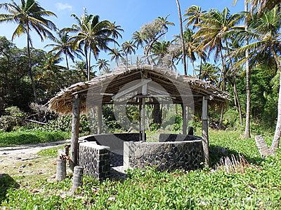 A beach shelter at spring bay on bequia.