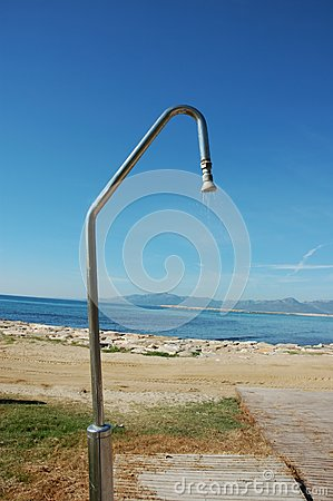 Beach and shower and sun