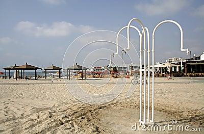 Beach shower in tel aviv