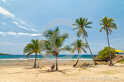 Beach Siboney 19km from Santiago de Cuba Editorial Image