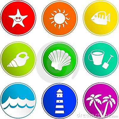 Beach sign icons