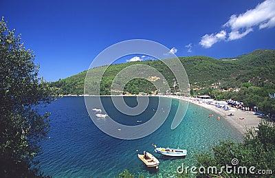 Beach at skopelos island, greece