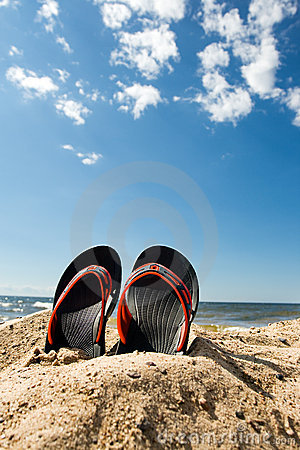 Free Beach Slippers Stock Photos - 8008653