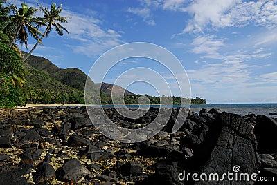 Beach small village Thio