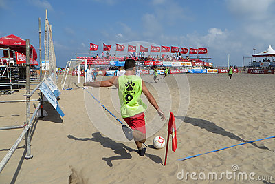 Beach Soccer Editorial Photo